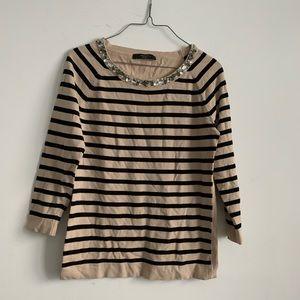 Weekend max Mara stripe long sleeve sweater jewel